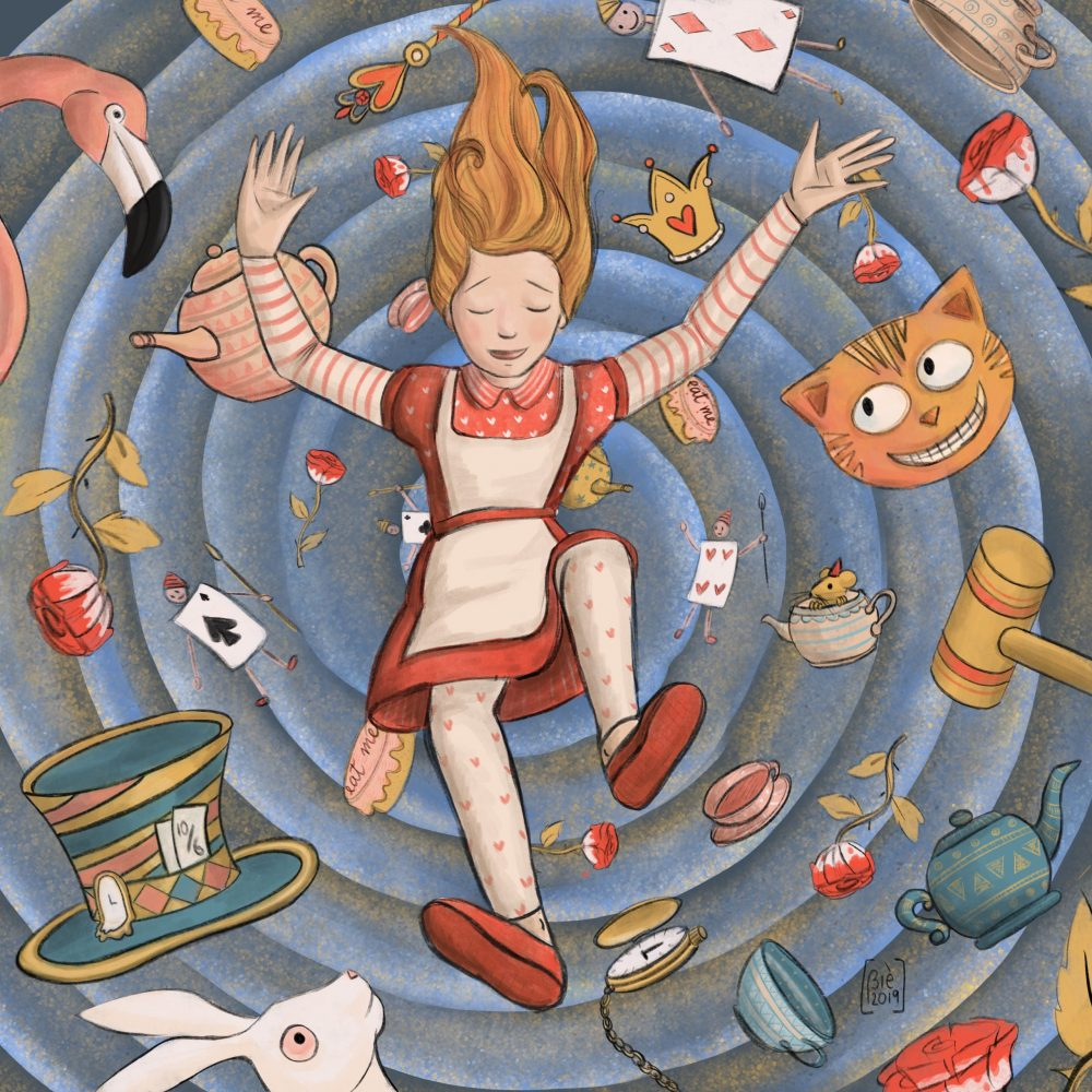 Cover for Alice in Wonderland Illustrated by Gabriella Vagnoli