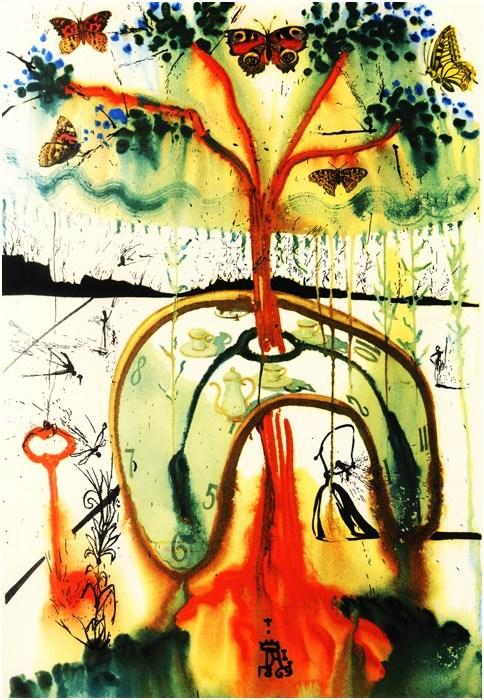 Salvador Dali Alice in Wonderland